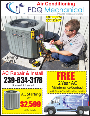 Air condition company prices coupons reviews Local Deals Coupon Book. AC coupon for PDQ Mechanical air condition contractor