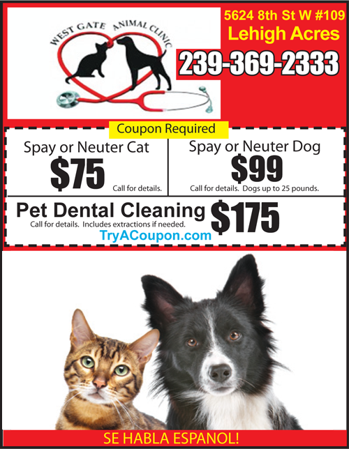 Local Deals Coupon Book Vet coupon Veterinarian Lehigh Acres Florida Vet Coupon